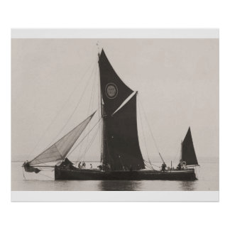 Thames Barge Race 1975,  a Poster