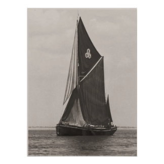 Thames barge race 1975  b poster