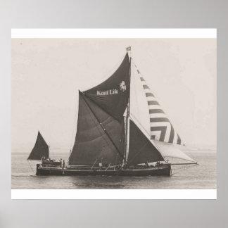 Thames Barge Race 1975,  Striped jib Poster
