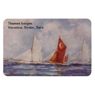 Thames barges Veronica, Sirdar, Sara Imán Rectangular