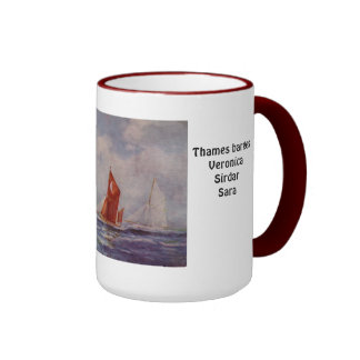 Thames barges Veronica Sirdar Sara Coffee Mug