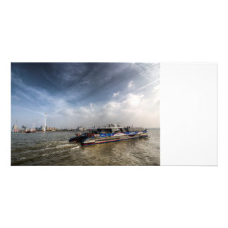 Thames Clipper And Cable Car Photo Card