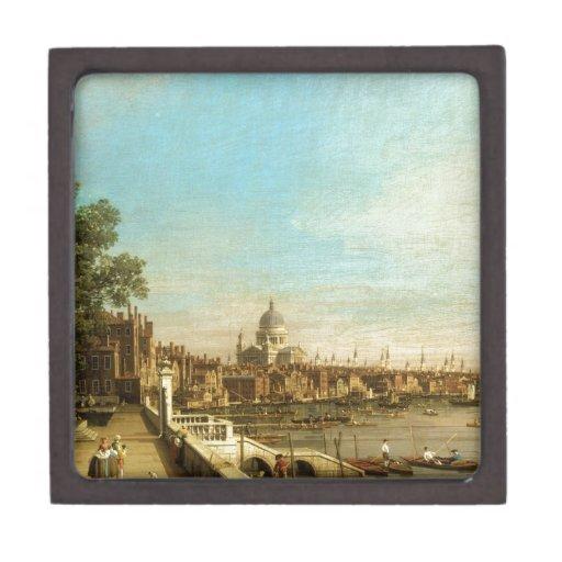 Thames de la terraza de la casa de Somerset (por C Caja De Regalo De Calidad