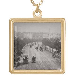 Thames Embankment (sepia photo) Pendant
