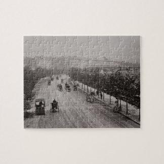Thames Embankment (sepia photo) Jigsaw Puzzles