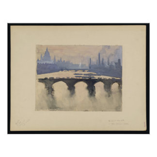 Thames In The Mist Print