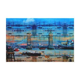 Thames Memories of Tower Bridge, London England Canvas Print