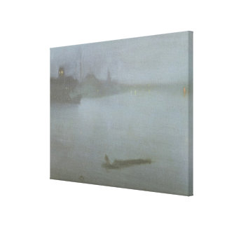 Thames - Nocturne in Blue and Silver, c.1872/8 (oi Canvas Print