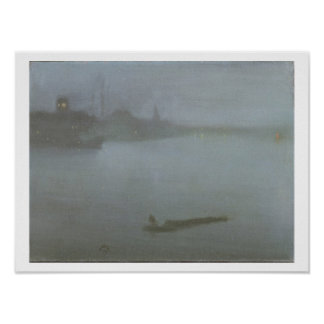 Thames - Nocturne in Blue and Silver, c.1872/8 (oi Print