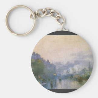 Thames Port by Lesser Ury Keychain