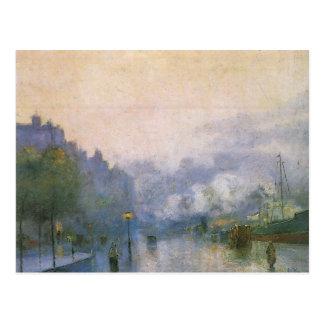 Thames Port by Lesser Ury Postcard