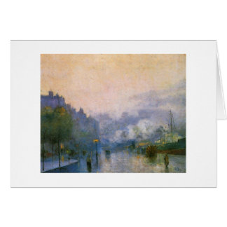 Thames Port by Ury German impressionist painting Greeting Card