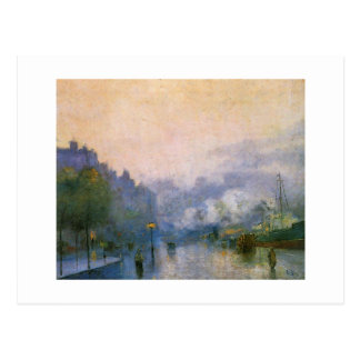 Thames Port by Ury German impressionist painting Postcard