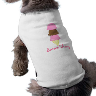 Thang dulce playera sin mangas para perro