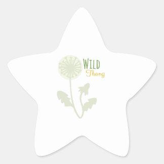Thang salvaje pegatinas forma de estrellaes personalizadas