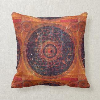 Thangka astronómico tibetano cojín