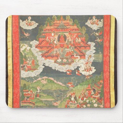 Thangka del paraíso de Amitabha Alfombrilla De Raton