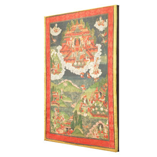 Thangka of the Paradise of Amitabha Stretched Canvas Prints