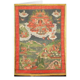 Thangka of the Paradise of Amitabha Card