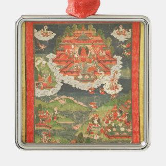 Thangka of the Paradise of Amitabha Metal Ornament