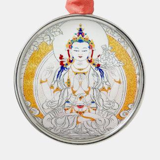 THANGKA PAINTING TIBET ART METAL ORNAMENT