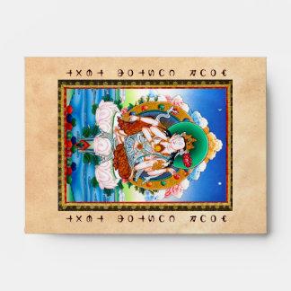 Thangka tibetano fresco Cintamanicakra Avalokitesv
