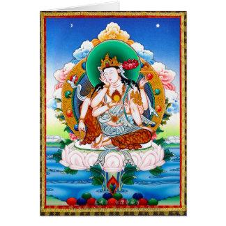 Thangka tibetano fresco Cintamanicakra Avalokitesv Felicitaciones
