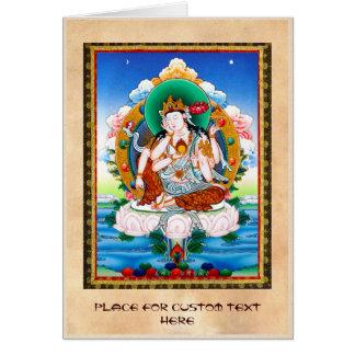 Thangka tibetano fresco Cintamanicakra Avalokitesv Felicitacion