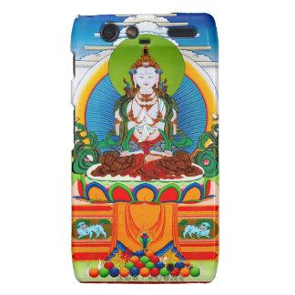 Thangka tibetano oriental fresco Buda Locani Motorola Droid RAZR Carcasas