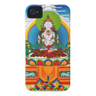 Thangka tibetano oriental fresco Buda Locani Case-Mate iPhone 4 Carcasa