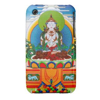Thangka tibetano oriental fresco Buda Locani iPhone 3 Protectores