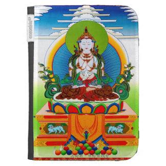 Thangka tibetano oriental fresco Buda Locani