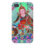 Thangka tibetano oriental fresco Padmasambhava iPhone 4 Carcasa