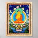 Thangka tibetano oriental fresco Prabhutaratna Bud Poster