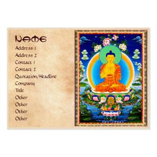 Thangka tibetano oriental fresco Prabhutaratna Bud Tarjetas De Visita Grandes