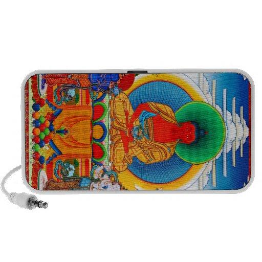 Thangka tibetano oriental fresco tres santos impor altavoces