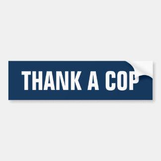 Thank a Cop Car Bumper Sticker