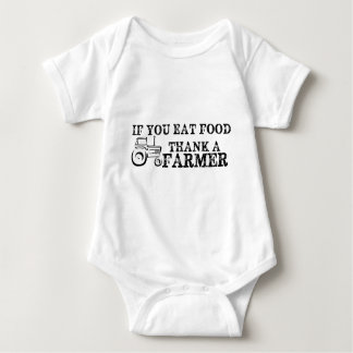 Thank A Farmer Baby Bodysuit