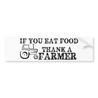 Thank A Farmer Bumper Sticker