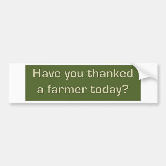Thank a farmer bumper sticker