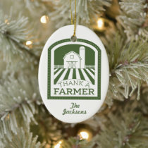 Thank A Farmer Christmas Ornament