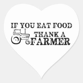 Thank A Farmer Heart Stickers