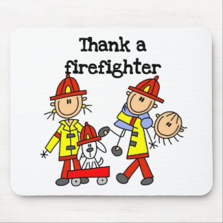 Thank a Firefighter mousepad