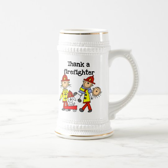 Thank a Firefighter T-shirts and Gifts Beer Stein