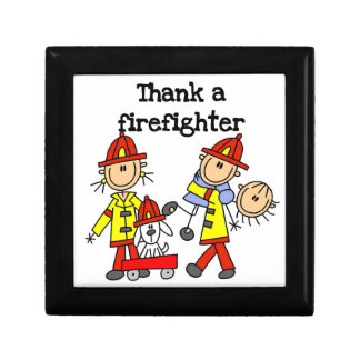 Thank a Firefighter T-shirts and Gifts Jewelry Box