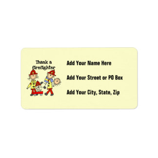 Thank a Firefighter T-shirts and Gifts Address Label