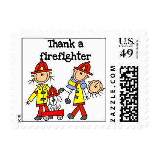 Thank a Firefighter T-shirts and Gifts Postage Stamp