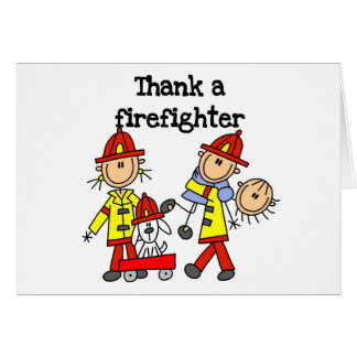 Thank a Firefighter Tshirts and Gifts Card