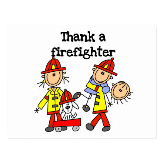 Thank a Firefighter Tshirts and Gifts Postcard