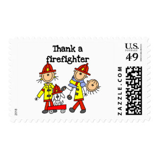 Thank a Firefighter Tshirts and Gifts Stamps